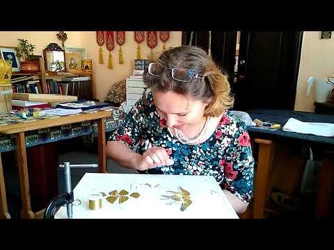 Вышивка херувимов золотом