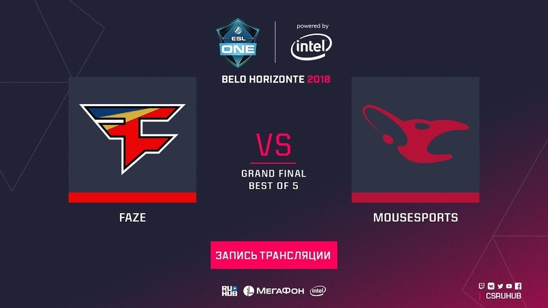 FaZe vs mousesports - ESL One Belo Horizonte - GRAND FINAL - map5 - de_dust2 [CrystalMay, Enkanis]