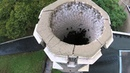 Quadcopter view of roosting Chimney Swifts