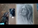 Екатерина Захваткина Контрастный портрет простым карандашом.