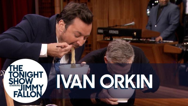 Chef Ivan Orkin Challenges Jimmy to a Ramen Noodle Slurp-Off