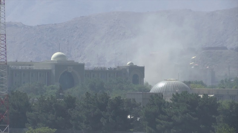 Combat Helicopter Fires On Insurgent Hideout In Kabul City