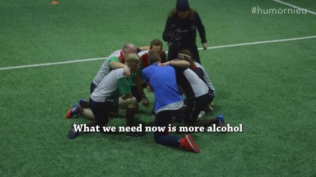 Drunk football / Пьяные норвежцы играют в футбол