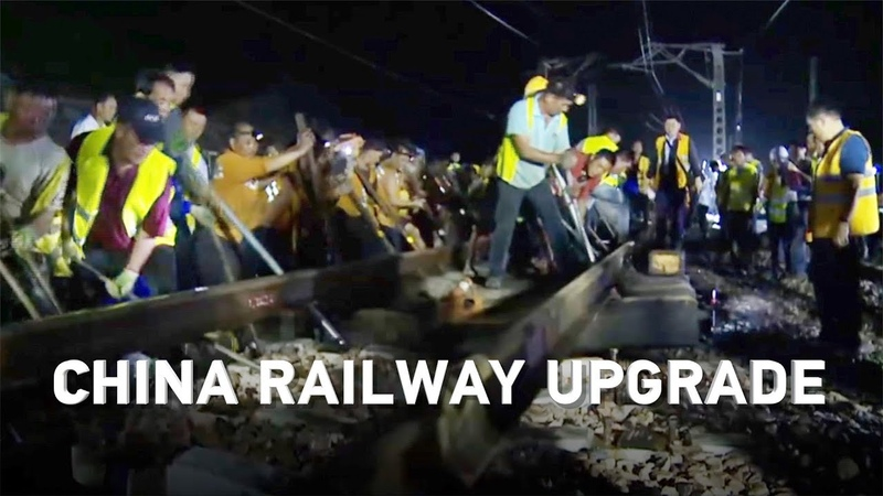 Incredible speed! 500 Chinese workers upgrade a railway in only 3 hours