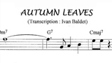 Scott Hamilton plays Autumn Leaves (Solo Transcription)