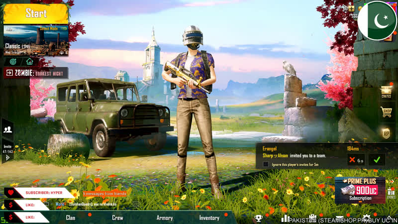 Lets Play PUBG Mobile Again Mirza Shahroz is Live now 30ms Ping is coming soon into Pakistan