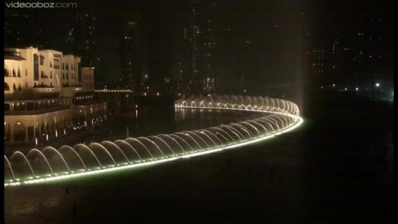 Видео Обозреватель Поющие фонтаны в Арабских Эмиратах Дубаи 2954