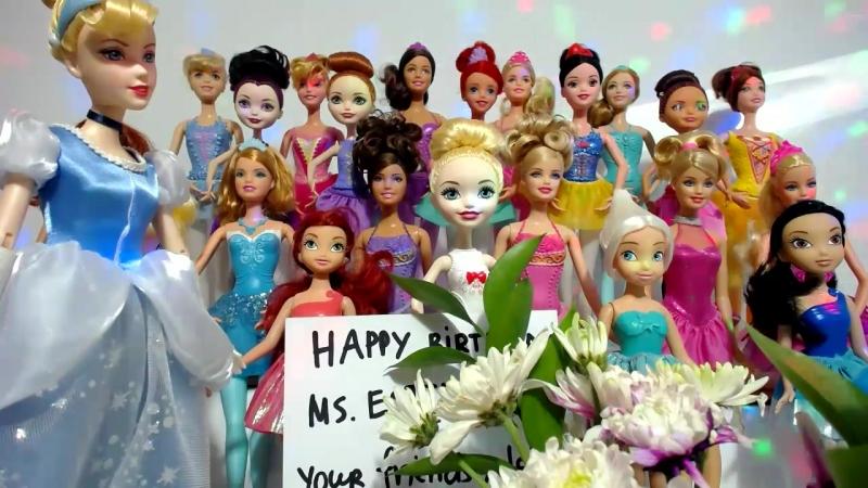Куклы Барби и Принцессы Диснея ТВ. Песня Мама, исполняет Викей в образе куклы Барби Адель Концерт на День Рождения Часть 6 из 19