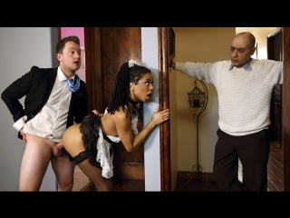 Kira noir – up and cummer [brazzers, ebony, stockings & fishnets, uniform & costumes]