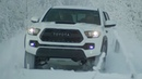 2017 Toyota Tacoma TRD Pro Playing in the Snow