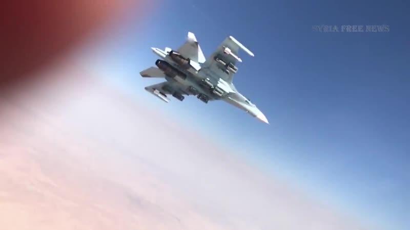 оФАБленный Су-27СМ и Су-34 ВКС РФ жарит боевиков в Сирии