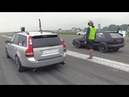 550HP Golf 2 VR6 Turbo vs 500HP Volvo V50 T5