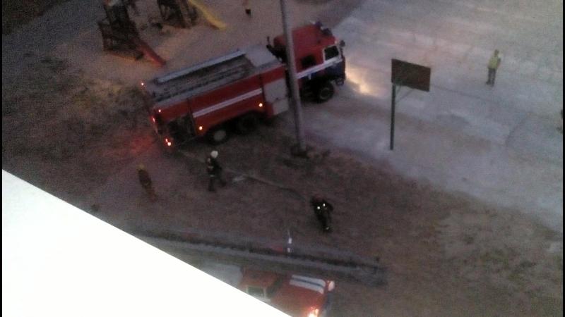 Пожар на улице Брилёвской.