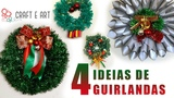 DIY 4 GUIRLANDAS NATAL 2017 CRAFT E ART ARTESANATO
