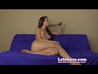 Lelu love - pantyhose wearing femdom tells you what