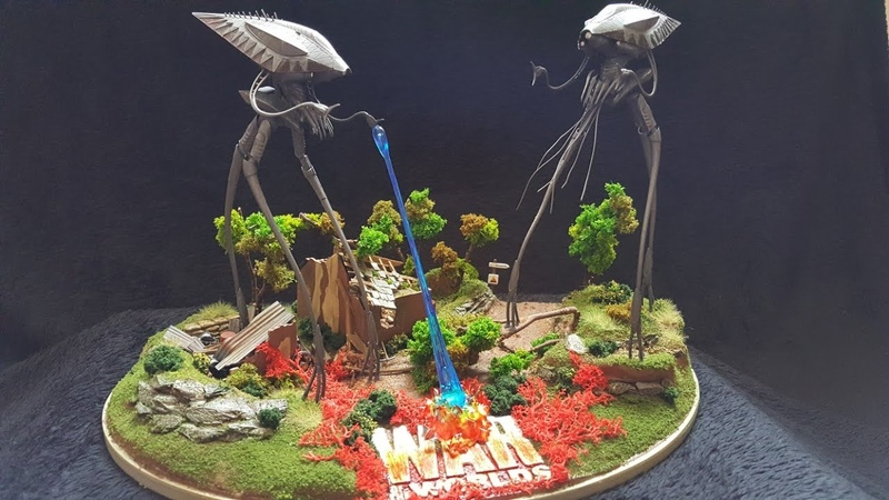 Pegasus hobbies war of the worlds tripods attack build diary.