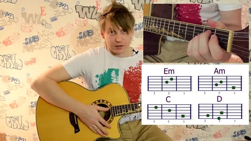[Гитара с нуля- уроки игры на гитаре] Уроки игры на гитаре для начинающих (урок2)учимся ставить аккорды на примере Пачка сигарет