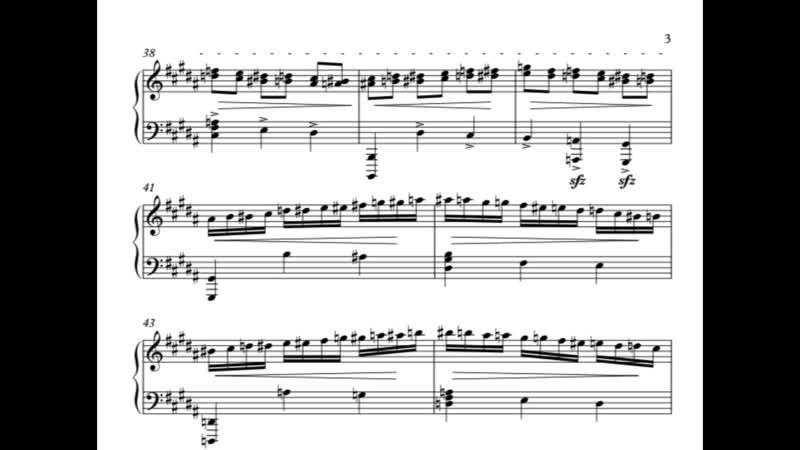 Старшинов Максим Этюд для фортепиано 2013
