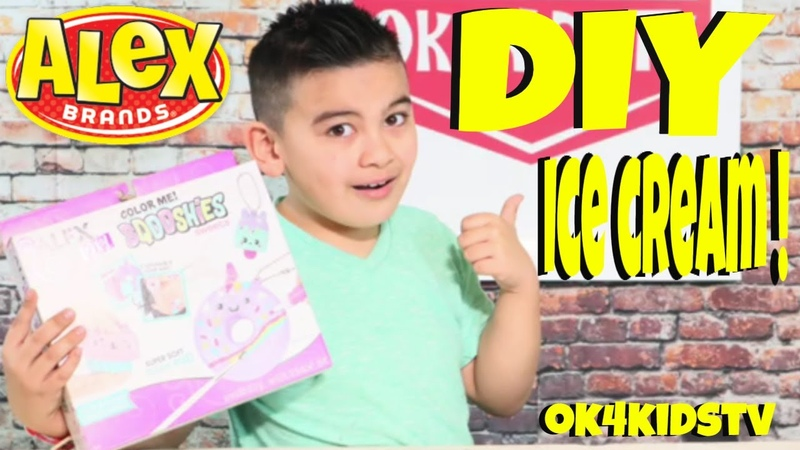 Keelans Toy Review Ice cream Design with ALEX DIY Color Me Sqooshies Sweets