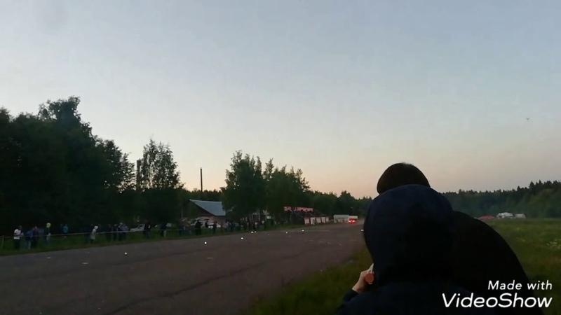Авария на гонках - Nissan Gt-R