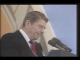 Reagan was giving a speech in West Berlin when a balloon popped very loudly