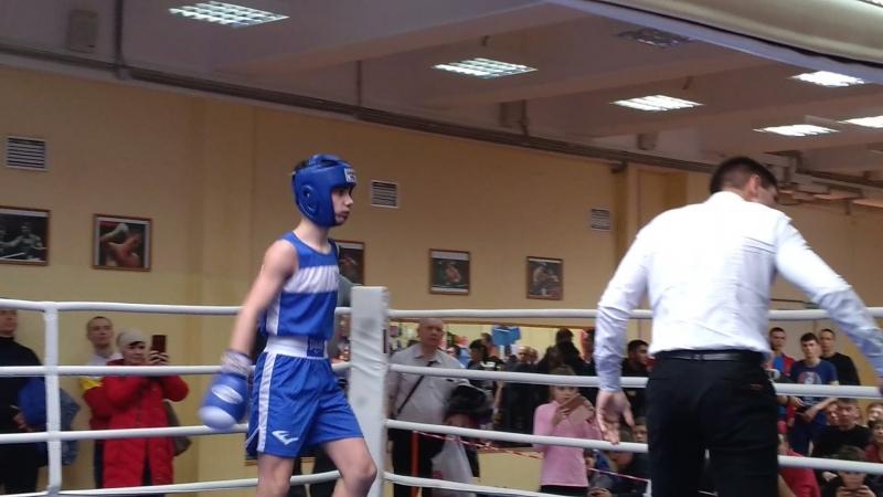 Канцарин Михаил (синий угол) бокс 25.03.2018 г.Нижний Новгород