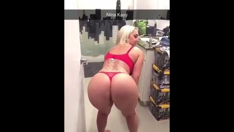 Nina Kayy (попка, booty, boobs, ass, фитнес, taty, тату, blonde)
