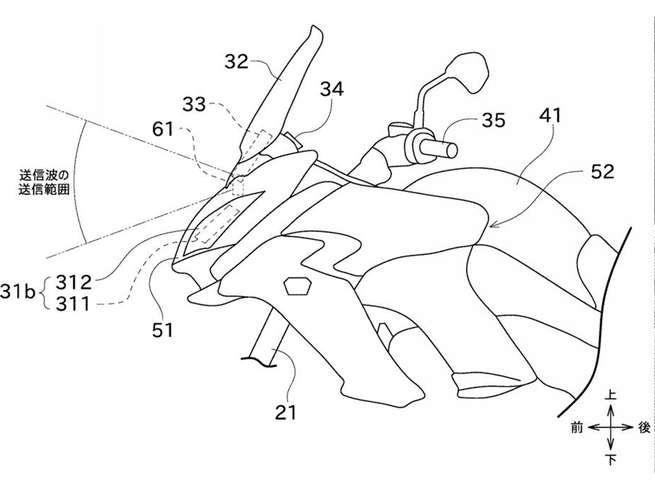 Компания Kawasaki патентует систему радаров для мотоциклов