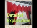 How to make curtains in your home Oriental decor easy and beautiful window used by the Pharaohs