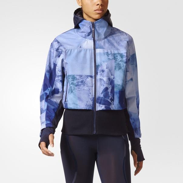 Куртка для бега Trail Soft Shell Stone Print