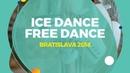 Shanaeva Elizaveta Naryzhnyy Devid RUS Ice Dance Free Dance Bratislava 2018