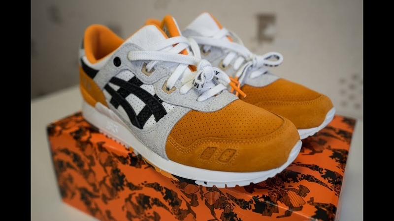 Обзор Asics Orange Koi x Beams x Afew Gel Lyte 3