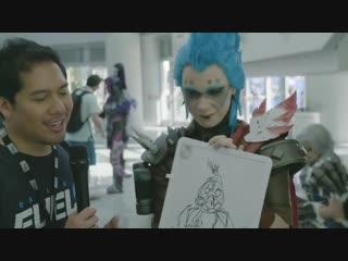 BlizzCon draws Overwatch Heroes - 30 Second Challenge _ Dallas Draws _ Dallas Fu