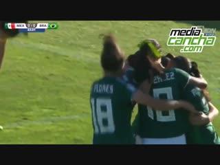 México vence a Brasil en Mundial Femenil