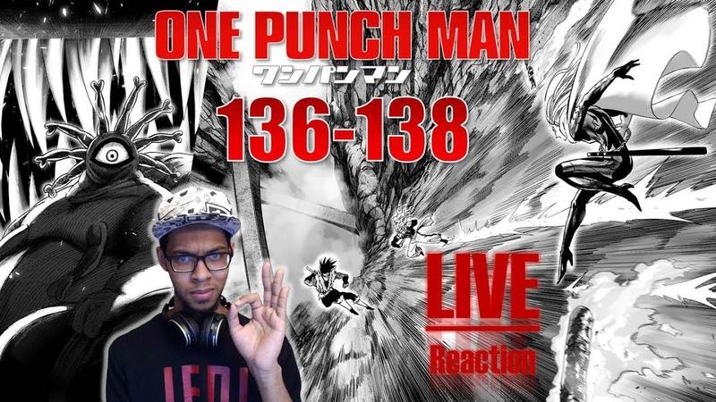 Битва на СВЕТОВОЙ СКОРОСТИ! One Punch Man/Ванпанчмен - главы 136-138 РЕАКЦИЯ