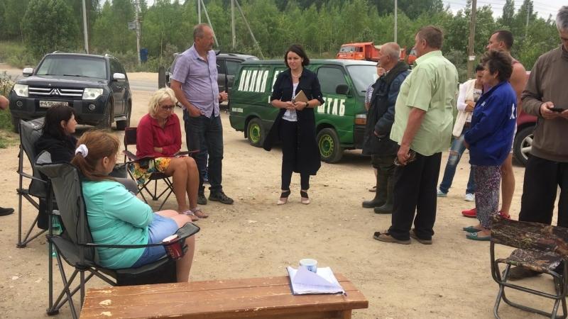 Встреча Лилии Беловой с протестующими жителями Сычево и Щелканово