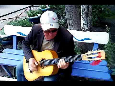 тёзка Путина шпилит на семиструнной гитаре в городе Кумертау