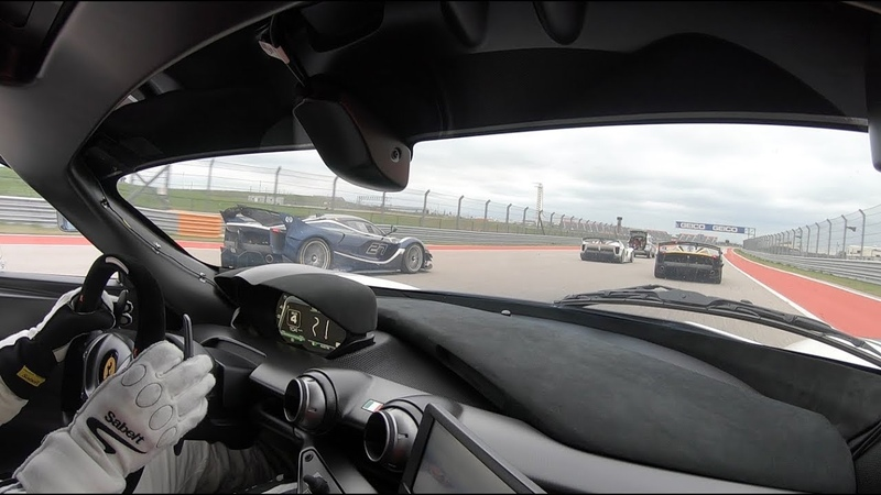 Passenger in a Ferrari FXX-K at Circuit of the Americas! Parade Laps Hot Laps