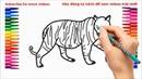 How to drawing a tiger, learning colors and coloring a tiger, bé tập vẽ con hổ vằn, tô mầu con hổ