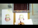 Speed painting из видео урока рисования цветными карандашами