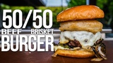 The Best 5050 Burger (with Brisket!) SAM THE COOKING GUY 4K