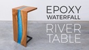 Floating Epoxy Waterfall River Table Woodworking How to Build
