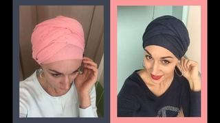 Намотка для длинного палантина - как сделать многослойный тюрбан. Head wrap turban tutorial