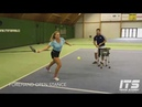Forehand backhand stability drill with resistance band