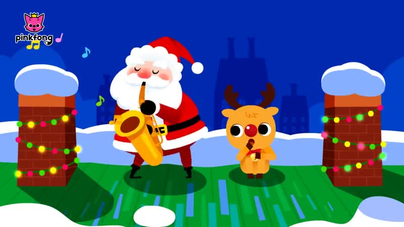 Santa Comes Down the Chimney 1 - Christmas Song - Carol for Kids - Pinkfong Songs for Children