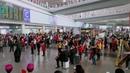 Flash mob pops up at Beijing Capital International Airport