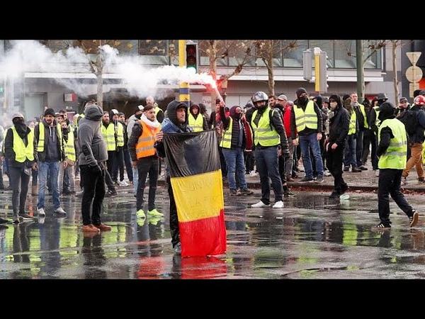 Жёлтые жилеты блокировали Брюссель