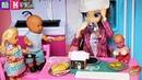ЗАВТРАК КАТИ И МАКСА ВЕСЕЛАЯ СЕМЕЙКА. Мультики с куклами Барби кукла