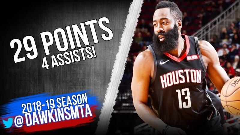 James Harden Full Highlights 2018.12.11 Rockets vs Blazers - 29 Pts, 4 Asts! | FreeDawkins