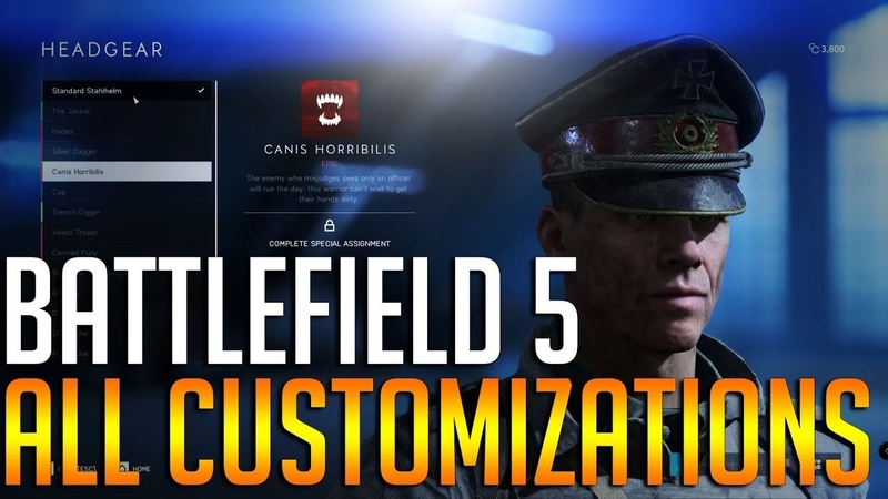 BATTLEFIELD 5 CUSTOMIZATIONS - Allies and Axis - ad sponsored LogitechG KeepPlaying